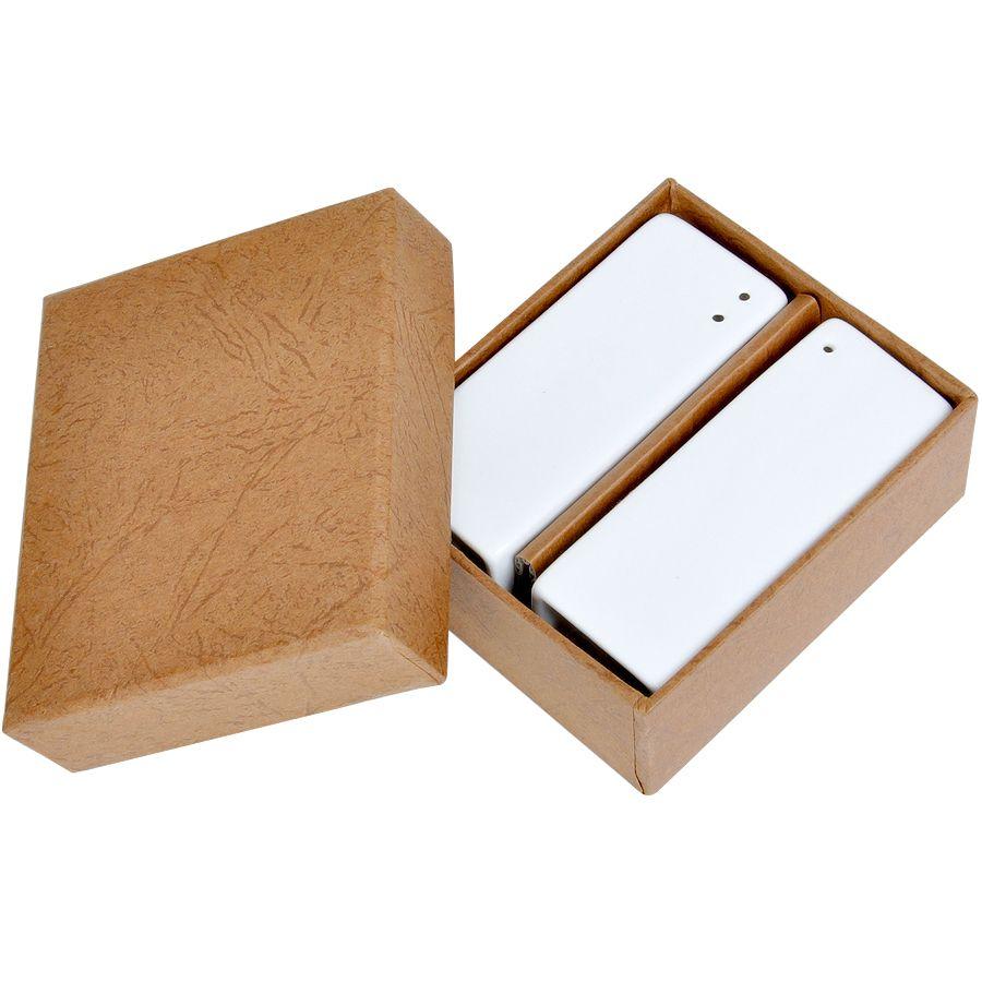 Набор «Towers»:солонка и перечница в подарочной упаковке, 1шт:3х7,5х3см,фарфор