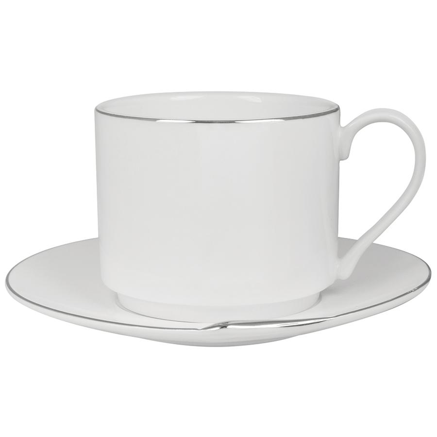 Чайная пара «Серебро» в подарочной упаковке, 15,1х14,3х7,5см,200мл, фарфор