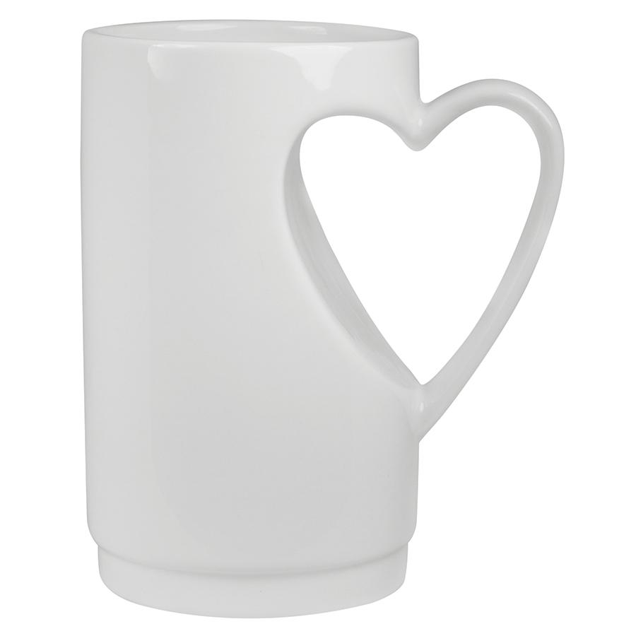 Кружка «Сердце» в подарочной упаковке, D=7,5см,H=12,5см,300мл,фарфор