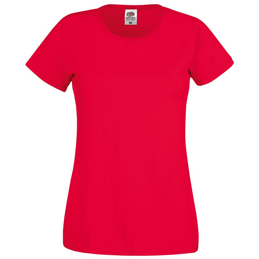 Футболка женская «Original T», красный_XS, 100% х/б, 145 г/м2