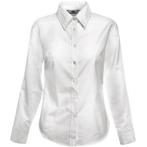 "Рубашка ""Lady-Fit Long Sleeve Oxford Shirt"", белый_L, 70% х/б, 30% п/э, 130 г/м2"