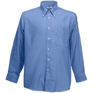 Рубашка «Long Sleeve Oxford Shirt», синий_2XL, 70% х/б, 30% п/э, 135 г/м2