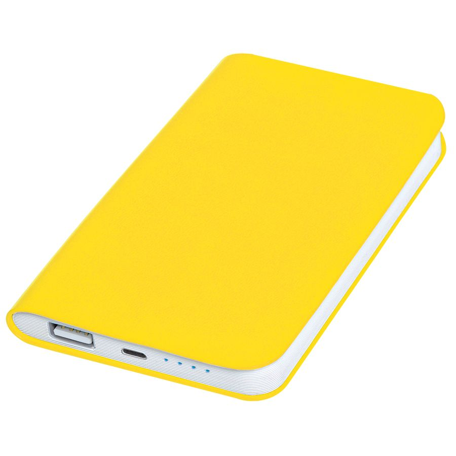 Фотография товара Универсальное зарядное устройство «Softi» (4000mAh),желтый, 7,5х12,1х1,1см, искусственная кожа,пласт