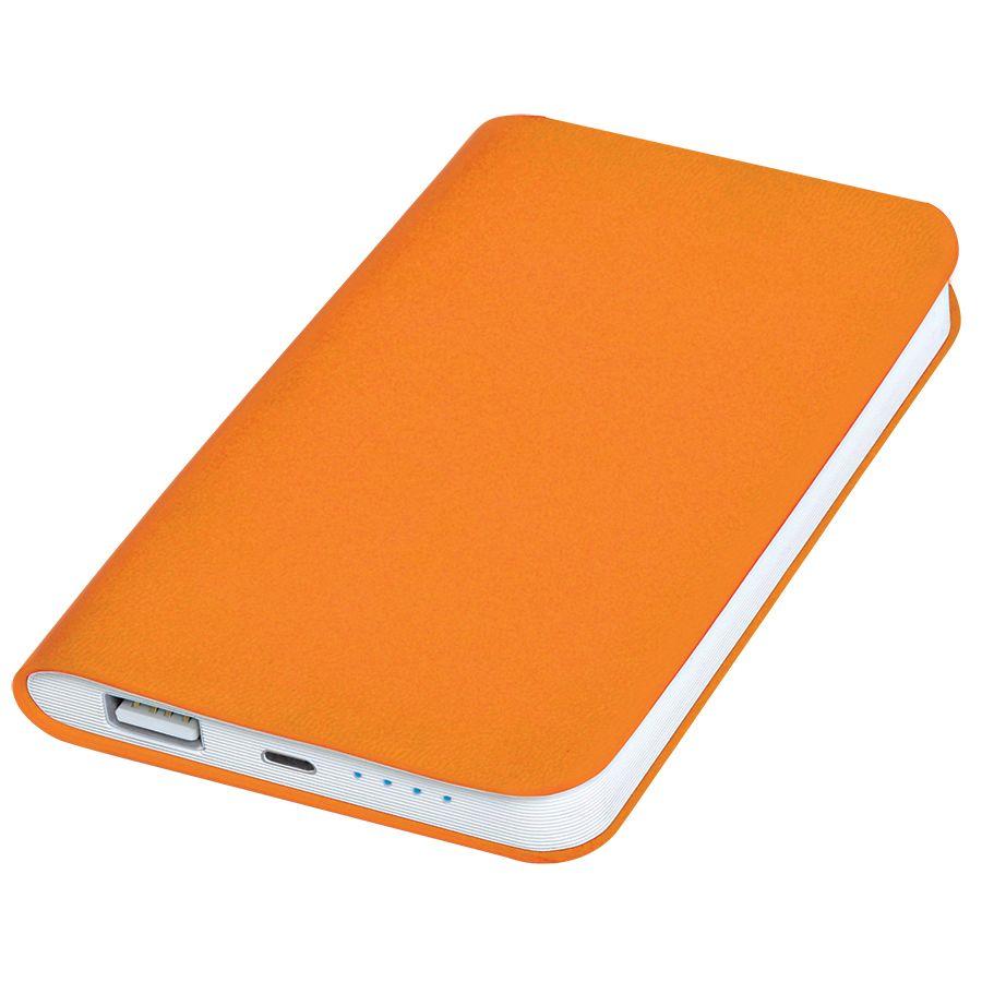 Фотография товара Универсальное зарядное устройство «Softi» (4000mAh),оранжевый, 7,5х12,1х1,1см, искусственная кожа,пл