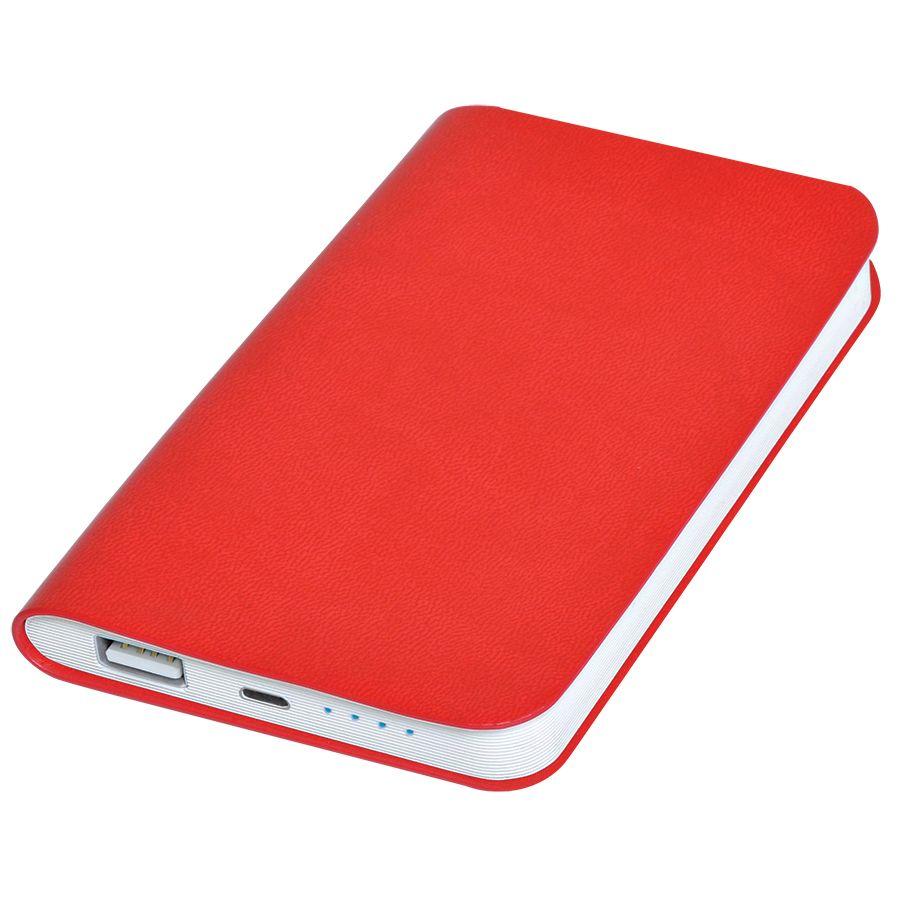 Фотография товара Универсальное зарядное устройство «Softi» (4000mAh),красный, 7,5х12,1х1,1см, искусственная кожа,пл