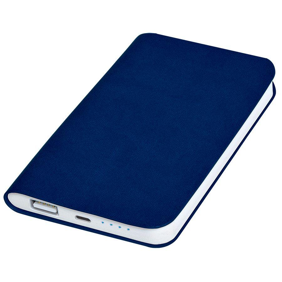 Универсальное зарядное устройство «Softi» (4000mAh),темно-синий, 7,5х12,1х1,1см, искусственная кожа,