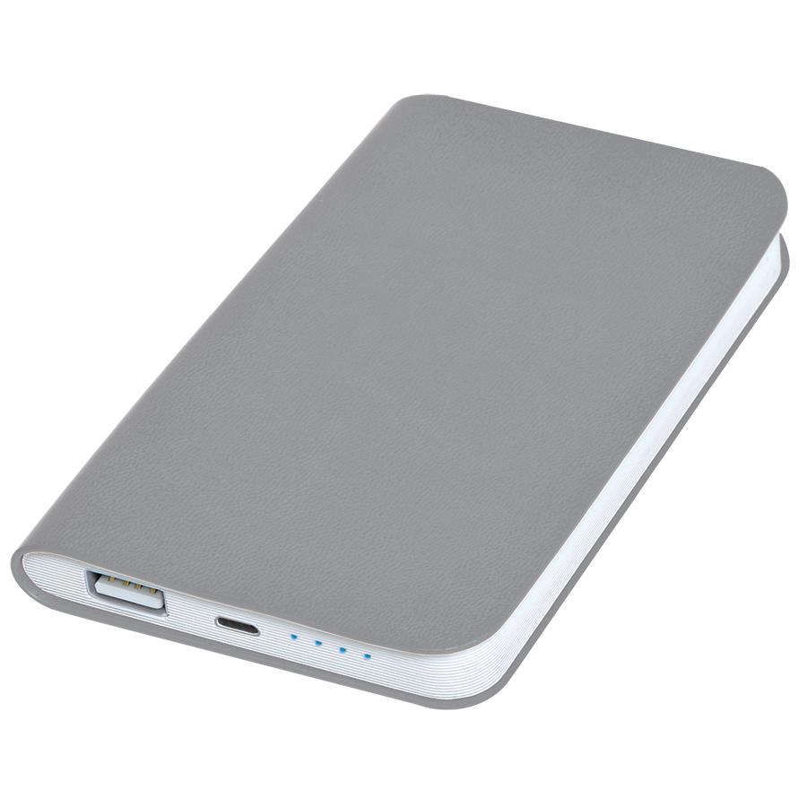 Фотография товара Универсальное зарядное устройство «Softi» (4000mAh),серый, 7,5х12,1х1,1см, искусственная кожа,пласти