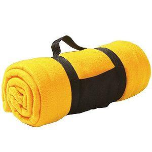 Плед «Color»; желтый; 130х150 см; флис 220 гр/м2; шелкография, вышивка