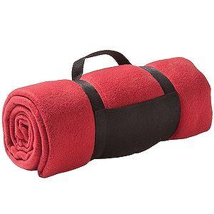 Плед «Color»; красный; 130х150 см; флис 220 гр/м2; шелкография, вышивка
