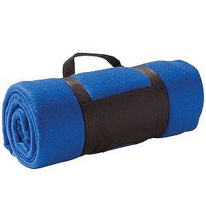 Плед «Color»; синий; 130х150 см; флис 220 гр/м2; шелкография, вышивка