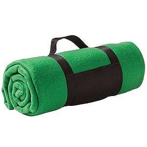 Плед «Color»; зеленый; 130х150 см; флис 220 гр/м2; шелкография, вышивка
