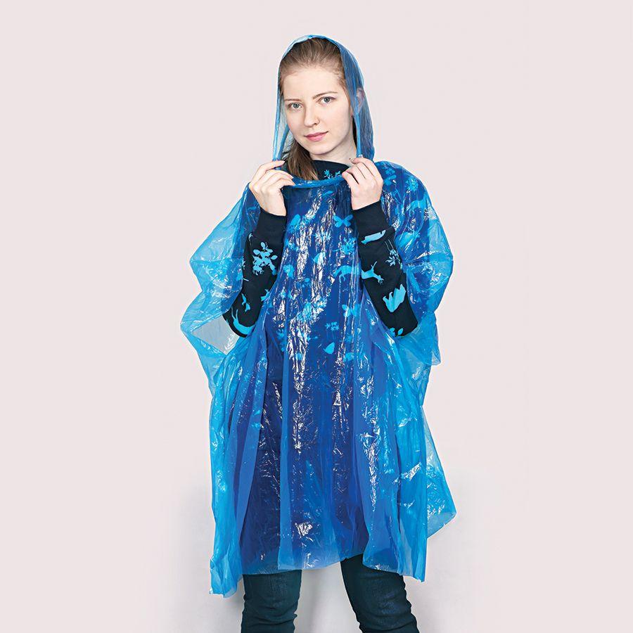 Фотография товара Дождевик «Promo»; синий; универсальный размер, D=6,3 см; полиэтилен, пластик