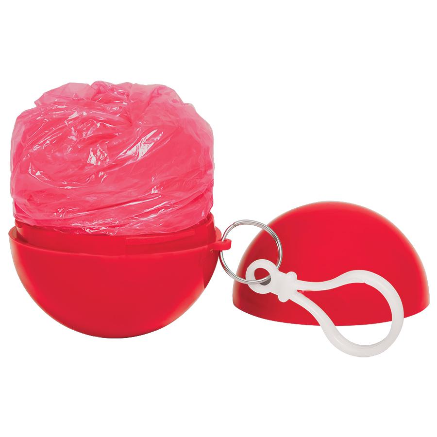 Дождевик «Promo»; красный; универсальный размер, D=6,3 см; полиэтилен, пластик