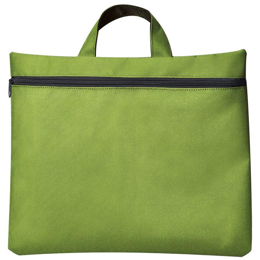 Сумка для документов «Paper»; зеленый; 40х30 см;полиэстер; шелкография