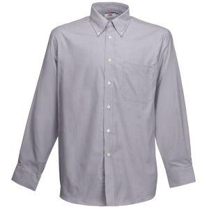 Рубашка «Long Sleeve Oxford Shirt», светло-серый_XL, 70% х/б, 30% п/э, 135 г/м2