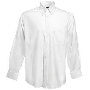 Рубашка «Long Sleeve Oxford Shirt», белый_S, 70% х/б, 30% п/э, 130 г/м2
