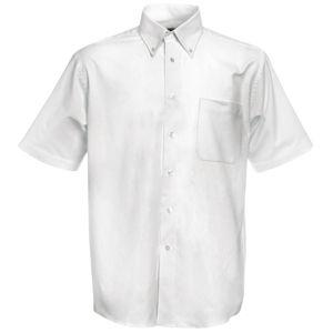 Рубашка «Short Sleeve Oxford Shirt», белый_M, 70% х/б, 30% п/э, 130 г/м2