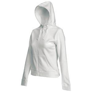 Толстовка «Lady-Fit Hooded Sweat Jacket», белый_XS, 75% х/б, 25% п/э, 280 г/м2