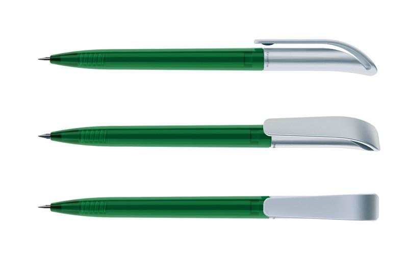 Нанесение логотипа на ручку Coco Прозрачный + Сатин