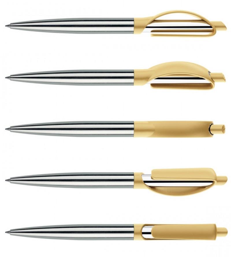 Нанесение логотипа на ручку Doppio Сатин + Металл