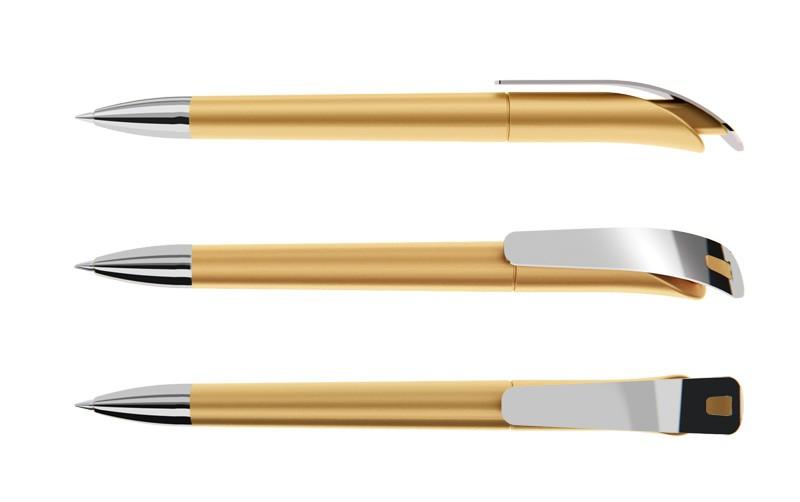 Нанесение логотипа на ручку Focus Сатин + Металл Клип