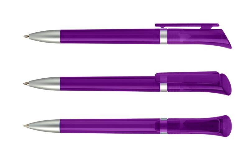 Нанесение логотипа на ручку Galaxy Прозр. + Сатин