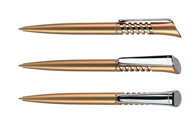 Нанесение логотипа на ручку Infinity Сатин + Металл Клип